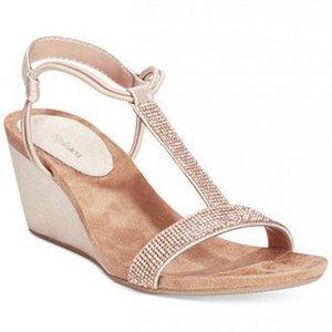 Style & Co Mulan 2 Embellished Stretch Wedge Heel